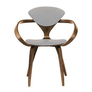 Shown in Natural Walnut Seat & Legs, Solid Walnut Arms, Divina 224