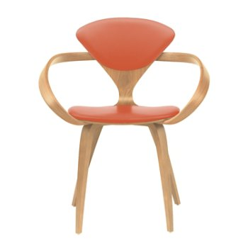 Shown in Natural Beech, Sabrina Leather Robotic Orange
