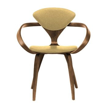 Shown in Natural Walnut Seat & Legs, Solid Walnut Arms, Divina 236