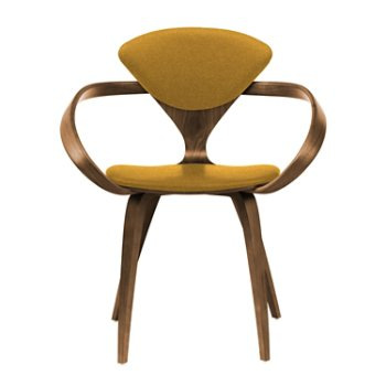 Shown in Natural Walnut Seat & Legs, Solid Walnut Arms, Divina 246