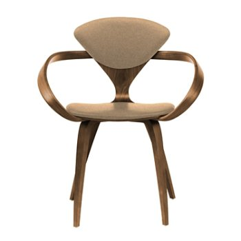 Shown in Natural Walnut Seat & Legs, Solid Walnut Arms, Divina 334