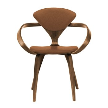 Shown in Natural Walnut Seat & Legs, Solid Walnut Arms, Divina 346