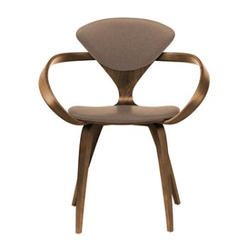 Shown in Natural Walnut Seat & Legs, Solid Walnut Arms, Divina 356