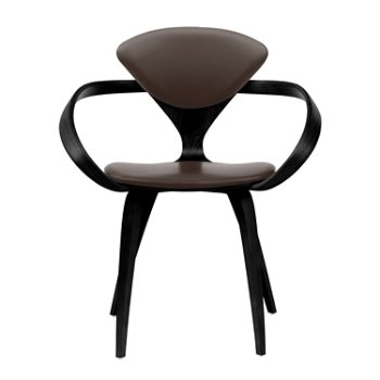 Shown in Ebony Lacquer, Sabrina Leather Coffee Bean