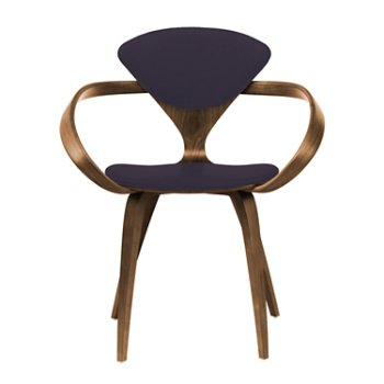 Shown in Natural Walnut Seat & Legs, Solid Walnut Arms, Divina 376