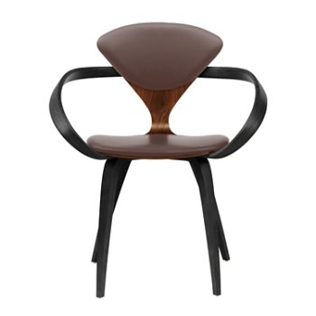 Shown in Classic Walnut Seat, Ebony Lacquer Arms & Legs, Vincenza Leather VZ-2115