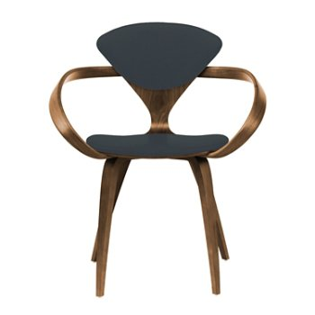 Shown in Natural Walnut Seat & Legs, Solid Walnut Arms, Divina 384