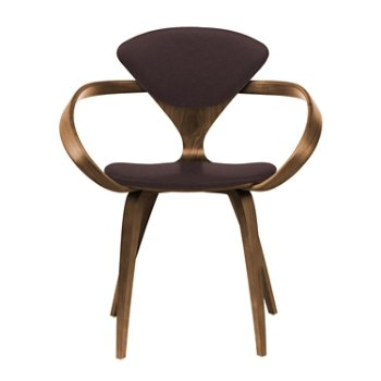 Shown in Natural Walnut Seat & Legs, Solid Walnut Arms, Divina 393