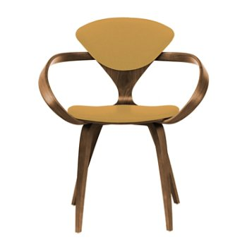 Shown in Natural Walnut Seat & Legs, Solid Walnut Arms, Divina 444