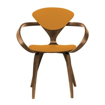 Shown in Natural Walnut Seat & Legs, Solid Walnut Arms, Divina 536