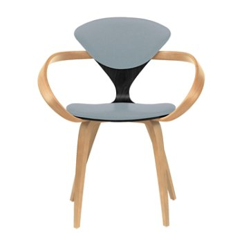 Shown in Ebony Lacquer Seat, Natural Beech Arms & Legs, Divina 171