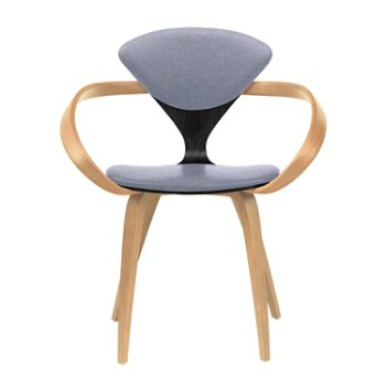 Shown in Ebony Lacquer Seat, Natural Beech Arms & Legs, Divina 173