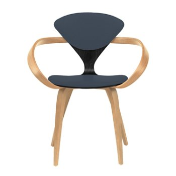 Shown in Ebony Lacquer Seat, Natural Beech Arms & Legs, Divina 181