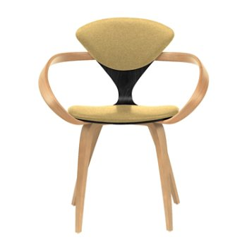 Shown in Ebony Lacquer Seat, Natural Beech Arms & Legs, Divina 236