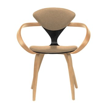 Shown in Ebony Lacquer Seat, Natural Beech Arms & Legs, Divina 334