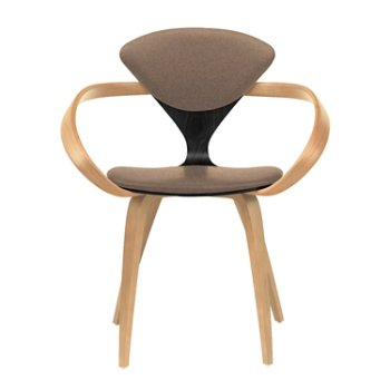 Shown in Ebony Lacquer Seat, Natural Beech Arms & Legs, Divina 356