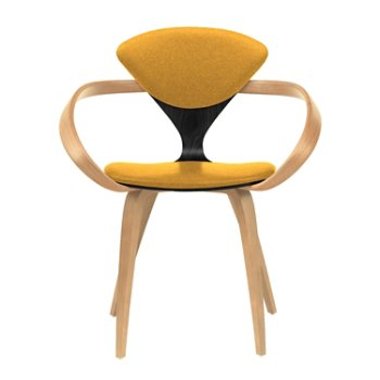 Shown in Ebony Lacquer Seat, Natural Beech Arms & Legs, Divina 462