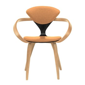 Shown in Ebony Lacquer Seat, Natural Beech Arms & Legs, Divina 526