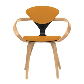 Shown in Ebony Lacquer Seat, Natural Beech Arms & Legs, Divina 536