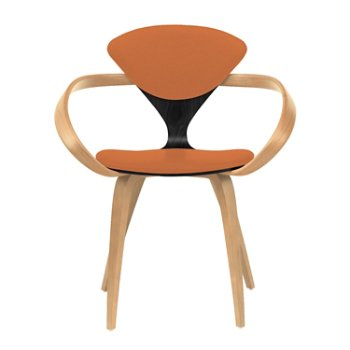Shown in Ebony Lacquer Seat, Natural Beech Arms & Legs, Divina 542