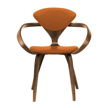 Shown in Natural Walnut Seat & Legs, Solid Walnut Arms, Divina 552