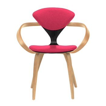 Shown in Ebony Lacquer Seat, Natural Beech Arms & Legs, Divina 626