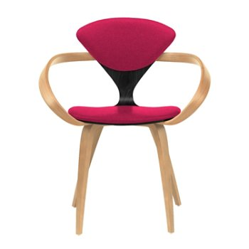 Shown in Ebony Lacquer Seat, Natural Beech Arms & Legs, Divina 636