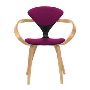 Shown in Ebony Lacquer Seat, Natural Beech Arms & Legs, Divina 652