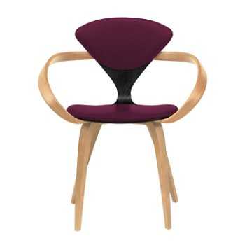 Shown in Ebony Lacquer Seat, Natural Beech Arms & Legs, Divina 671