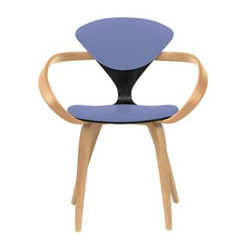 Shown in Ebony Lacquer Seat, Natural Beech Arms & Legs, Divina 676
