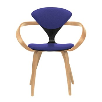 Shown in Ebony Lacquer Seat, Natural Beech Arms & Legs, Divina 684