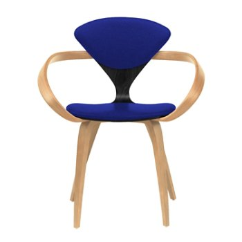 Shown in Ebony Lacquer Seat, Natural Beech Arms & Legs, Divina 686
