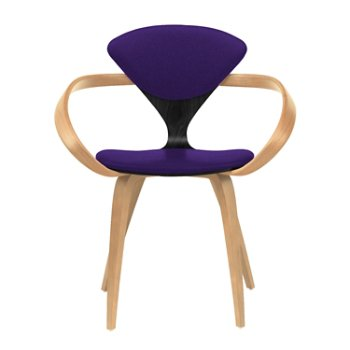 Shown in Ebony Lacquer Seat, Natural Beech Arms & Legs, Divina 692