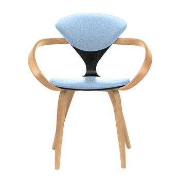 Shown in Ebony Lacquer Seat, Natural Beech Arms & Legs, Divina 712