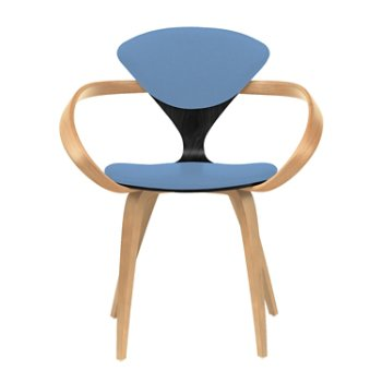 Shown in Ebony Lacquer Seat, Natural Beech Arms & Legs, Divina 742