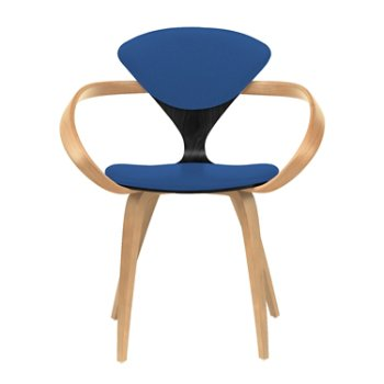 Shown in Ebony Lacquer Seat, Natural Beech Arms & Legs, Divina 756