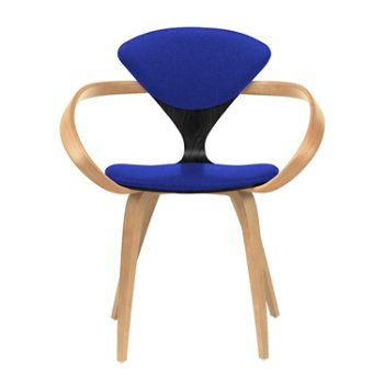 Shown in Ebony Lacquer Seat, Natural Beech Arms & Legs, Divina 782