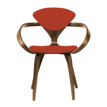Shown in Natural Walnut Seat & Legs, Solid Walnut Arms, Divina 584