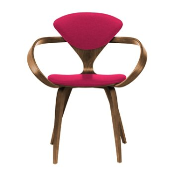 Shown in Natural Walnut Seat & Legs, Solid Walnut Arms, Divina 636