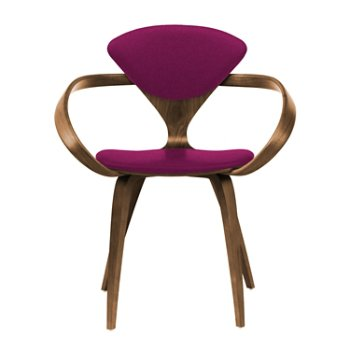 Shown in Natural Walnut Seat & Legs, Solid Walnut Arms, Divina 652