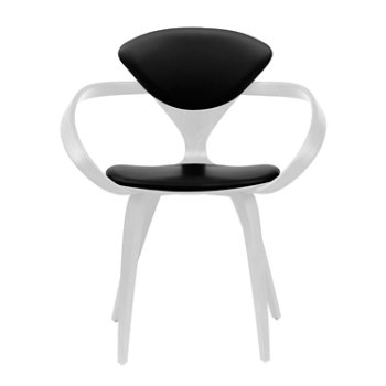 Shown in White Lacquer, Sabrina Leather Black