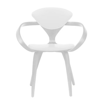 Shown in White Lacquer, Sabrina Leather White