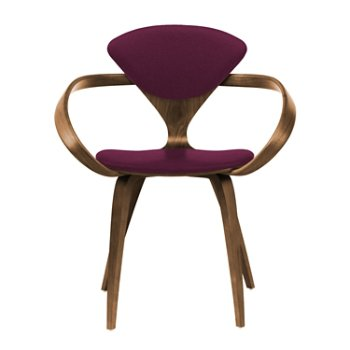 Shown in Natural Walnut Seat & Legs, Solid Walnut Arms, Divina 671