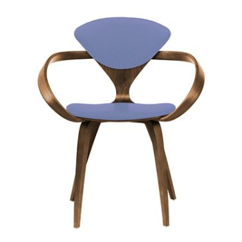 Shown in Natural Walnut Seat & Legs, Solid Walnut Arms, Divina 676
