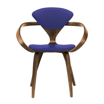 Shown in Natural Walnut Seat & Legs, Solid Walnut Arms, Divina 684