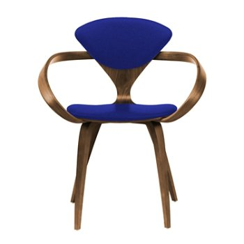 Shown in Natural Walnut Seat & Legs, Solid Walnut Arms, Divina 686