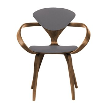 Shown in Natural Walnut Seat & Legs, Solid Walnut Arms, Divina 691