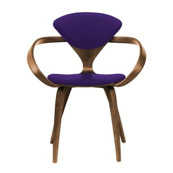 Shown in Natural Walnut Seat & Legs, Solid Walnut Arms, Divina 692