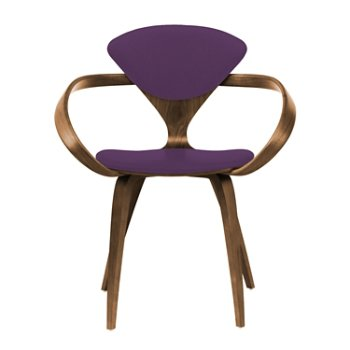 Shown in Natural Walnut Seat & Legs, Solid Walnut Arms, Divina 696