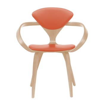 Shown in White Oak Rift Cut, Sabrina Leather Robotic Orange